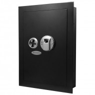 Barska AX12038 - 120 user capacity Biometric wall safe, two removable shelves & backup key.